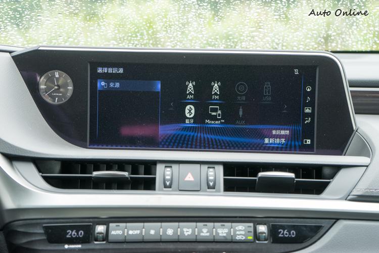 12.3吋非觸控中央顯示幕。