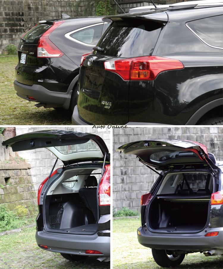 車尾的線條不同,也影響了尾廂的設計,其中CR-V的地板高度較低,取放行李會比較輕鬆。