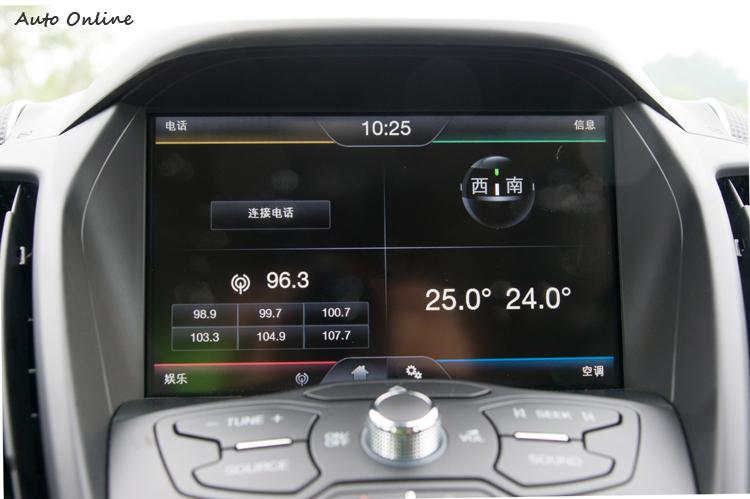 可以聲控、觸控、按鍵控的SYNC系統功能多連操作都炫。