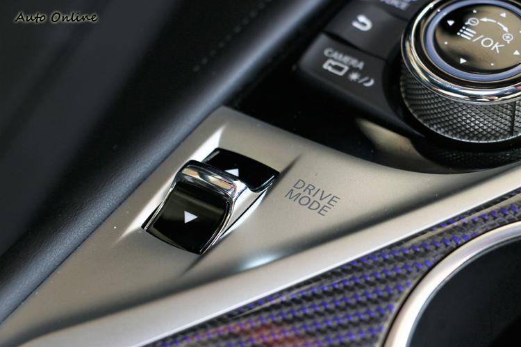 小小的切換按鍵攸關車輛動態表現。