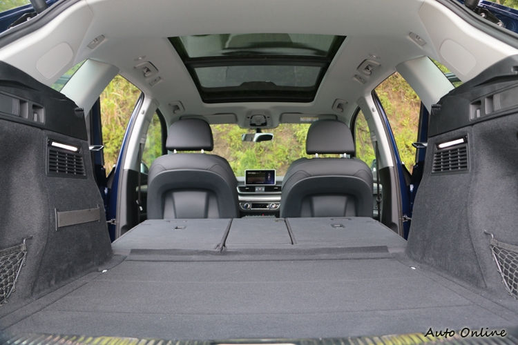 尺碼全面放大後,載物容量的空間表現成為購買Q5的一大誘因。
