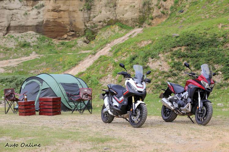 來張情境照:X-ADV和VFR800X也適合來段輕裝露營,臉書上NC群組很多人常結伴出遊,歡迎加入。