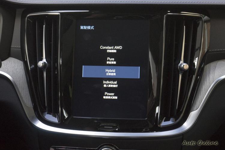 提供包含純電行駛在內的多種駕駛模式選擇。