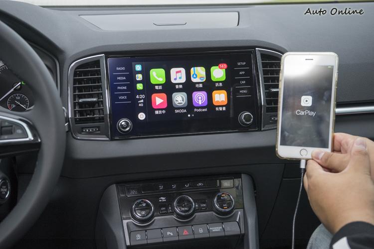 支援CarPlay、Android Auto平台,輕鬆在螢幕上操作手機APP。