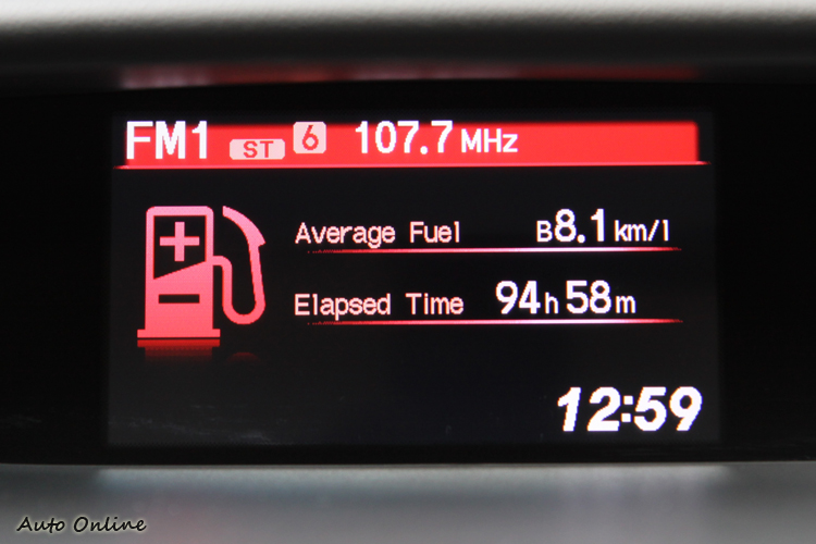 CR-V全車系都只有配置多功能資訊螢幕,不具備播放影片功能。