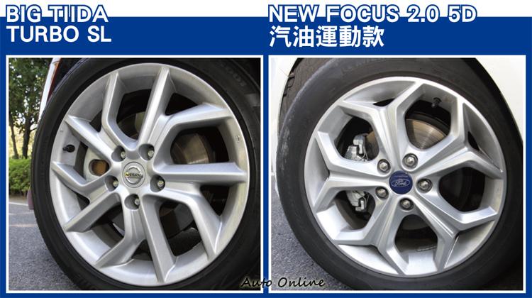 兩台車皆為各自陣中汽油款的頂級車型,輪胎也都配到17吋的水準。