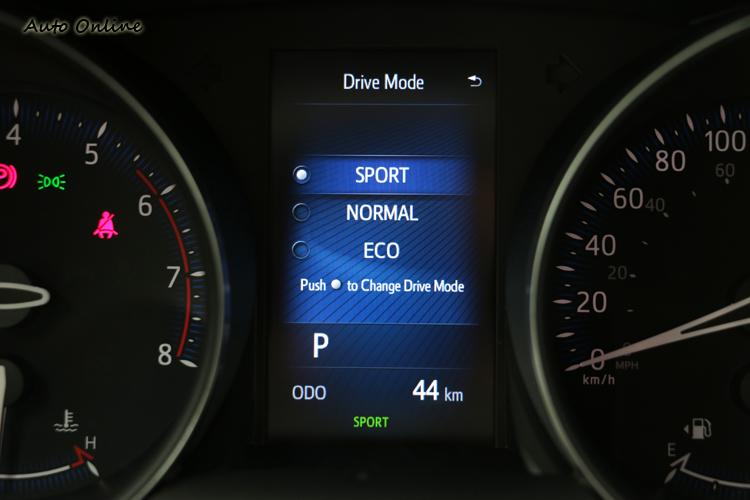 不是很人性化的行車模式切換,車主可自行選擇Sport、Normal與Eco三種。