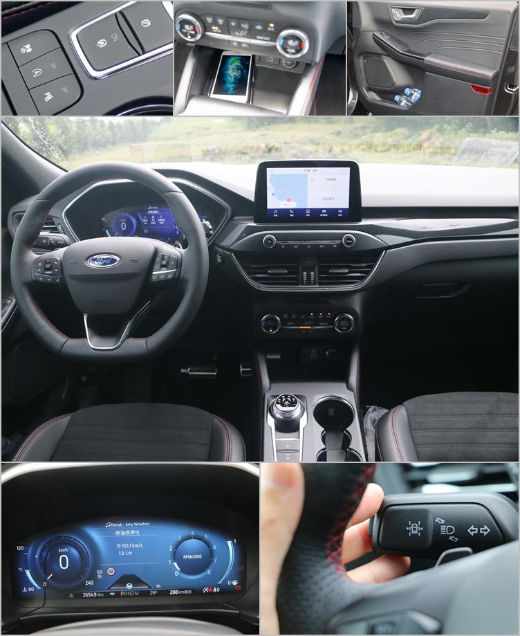 無線充電座與USB-C、12V電源幾乎已經成為汽車必要配備。雙紅色縫線及鍍鉻處理將座艙細節質感進一步提昇。Co-Pilot360智駕科技協助提供更便利輕鬆的駕駛過程。駕駛模式切換控制位在鞍座,使用時較為不便,必須低頭才能順利操作。至於12.3吋數位儀錶則會隨駕駛模式改變顯示風格。