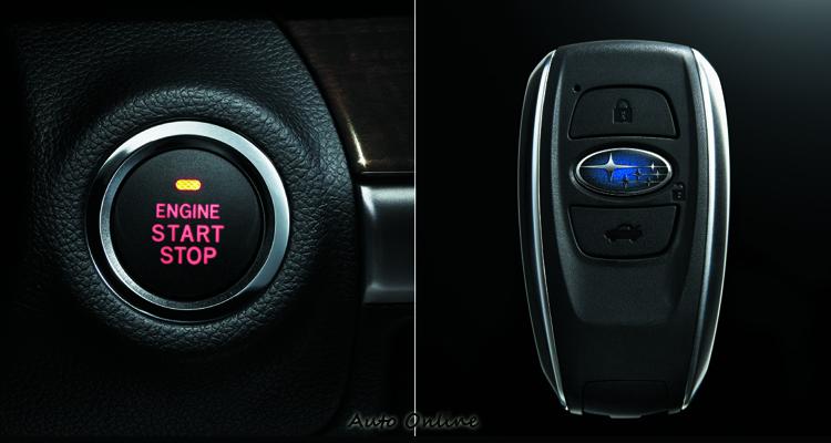 新的鑰匙設計與引擎啟動按鈕。