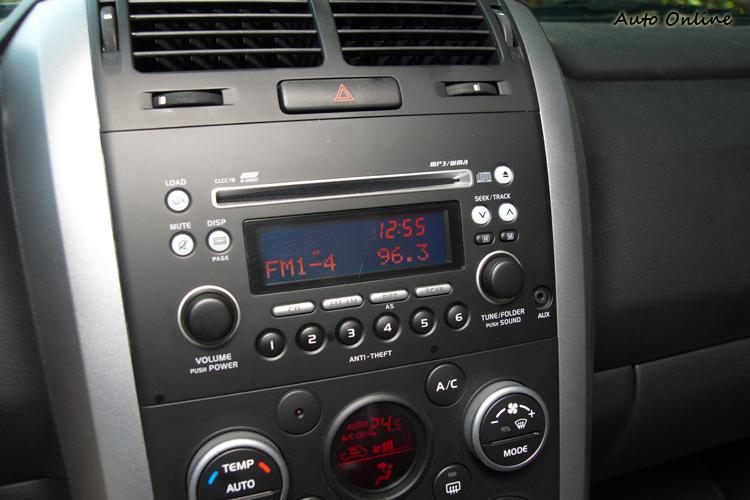 影音空調配備功能較少,操作介面線得單純直覺。