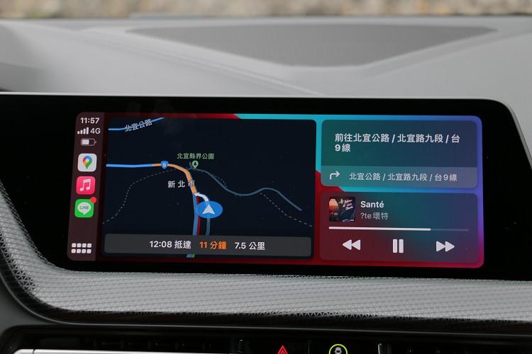 無線Apple CarPlay是標準配備。