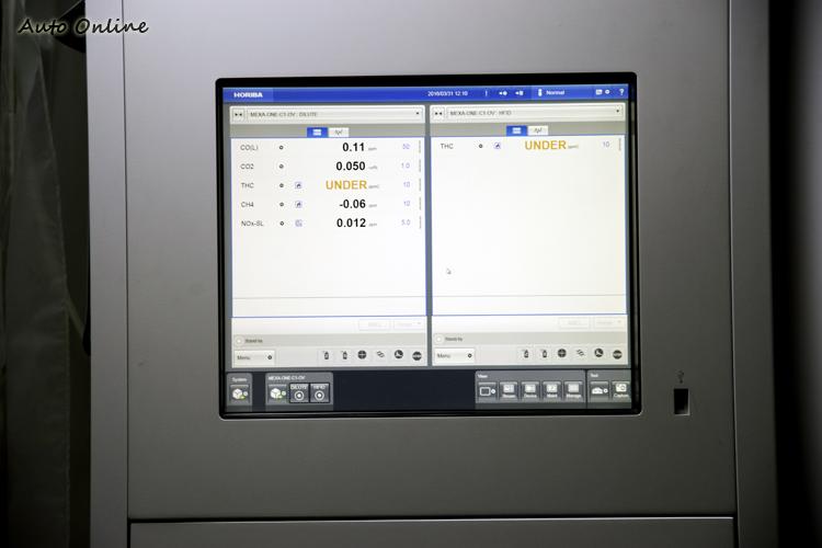 廢氣分析儀從集氣袋抽取廢氣後,就會分析計算污染物濃度與重量。