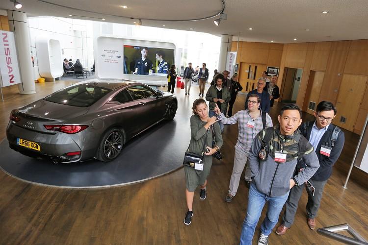 第一站INFINITI歐洲技術中心,不過礙於廠內有許多未曝光的新車,我們無法參觀工廠。