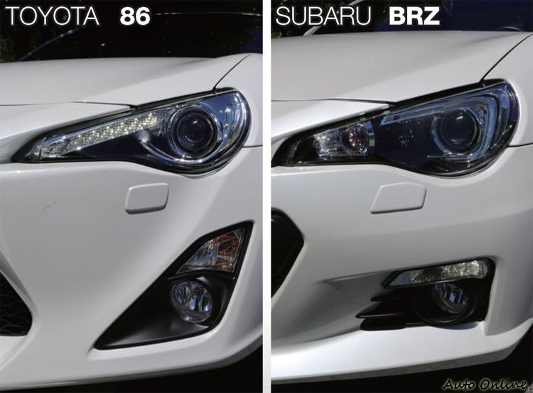 車頭上的差異就是日行燈位置與霧燈外框造型不同。