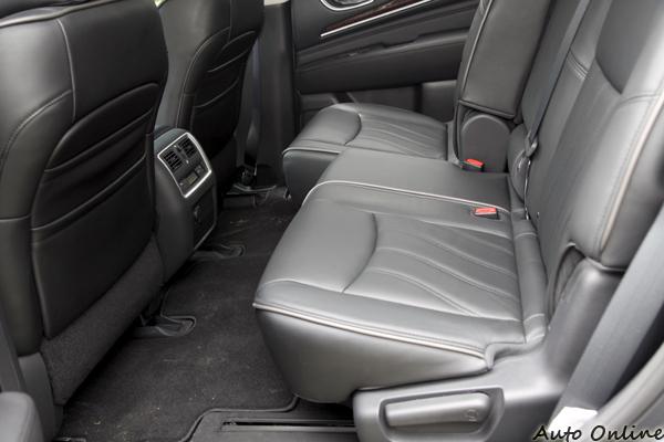座椅前後移動最大距離可達14公分,就如同照片所示。