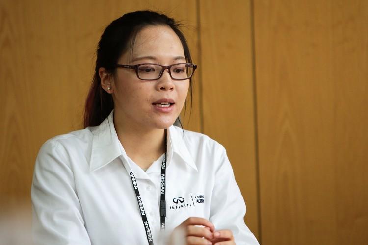 來自中國的Sally是INFINITI工程學院IEA是2016年甄選出的學生之一。