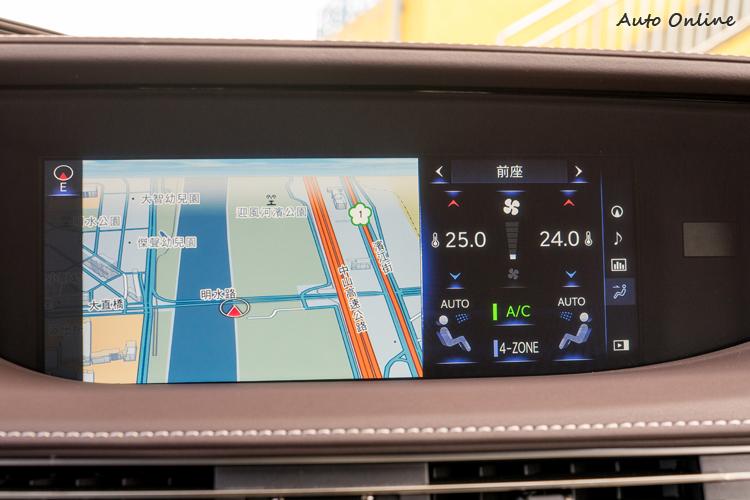 12.3吋中控螢幕整合車內多項功能顯示。