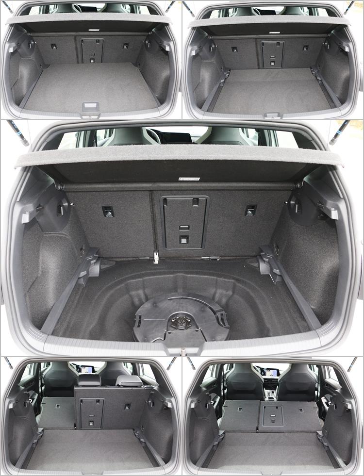 行李廂具備兩段底盤高度調整機能,不過備胎儲備區由於被佔用無法使用,但透過椅背前傾調整,必要時仍可擴充容量。