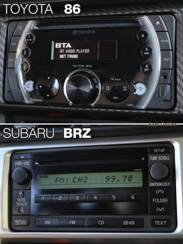 其實86的音響主機很一般般,只是沒想到BRZ的更…