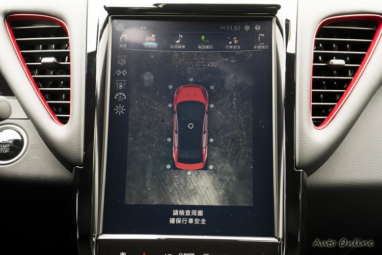 12吋大面積觸控螢幕畫面更好判讀。