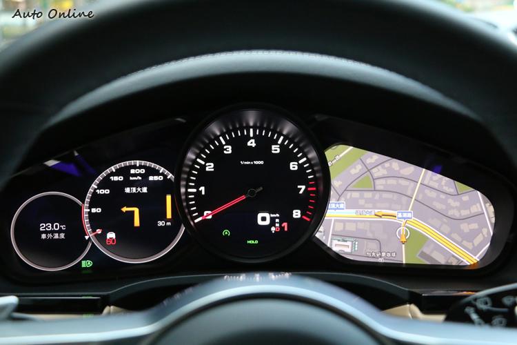數位結合類比儀錶的設計,兼顧了辨識上的直覺與便利。