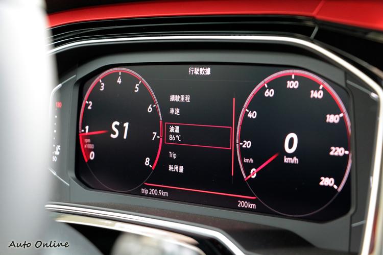 數位儀錶板提供更豐富的車輛資訊功能,同樣作為標配項目。