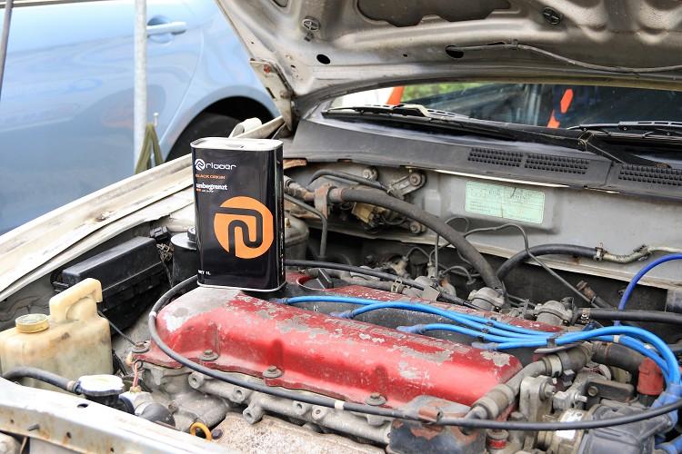 原廠的SR20DE引擎,從2014年開始從未大修整理,只有每次比賽前的固定基本換油。