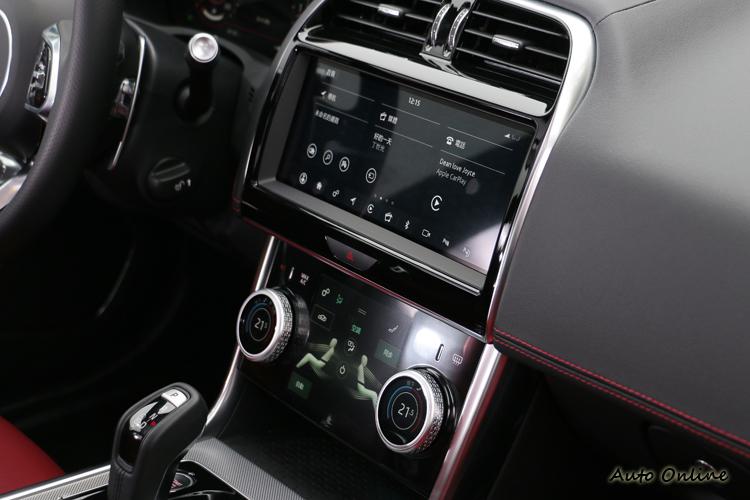 Touch Pro Duo智慧多媒體雙觸控中控台是來自於I-Pace的概念。