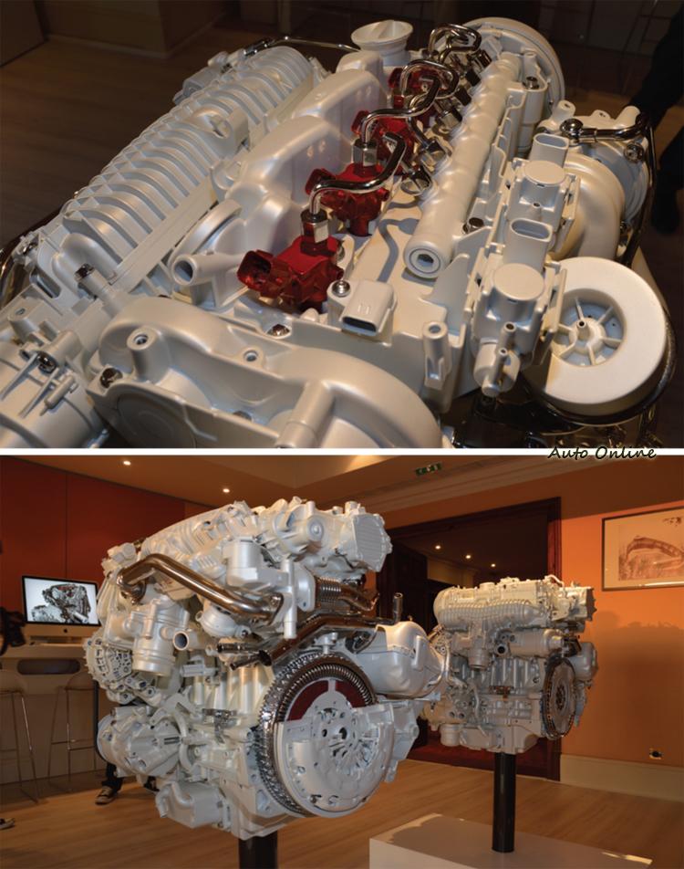 DRIVE-E柴油引擎兩大科技亮點其一便是採用雙渦輪增壓並提高供油壓力來到2500bar。