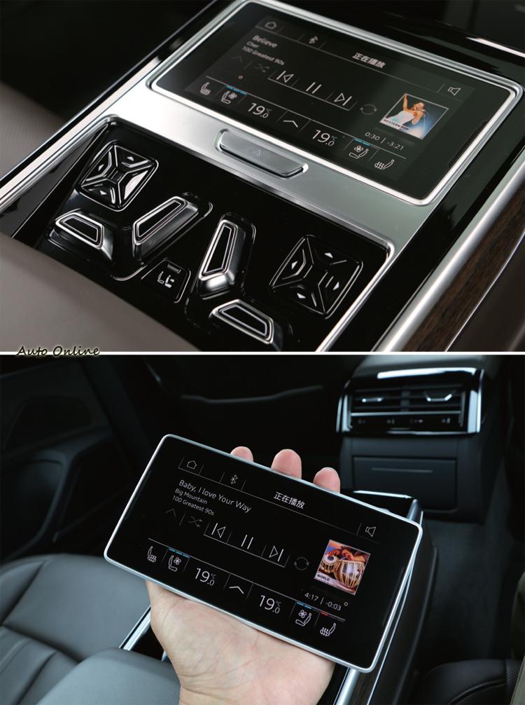 專屬後座的小平板用於控制多項舒適配備,使用上相當便利。