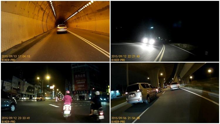 隧道內和夜間的畫質相對起來表現平平,不受點光源影響的特性則值得稱讚。