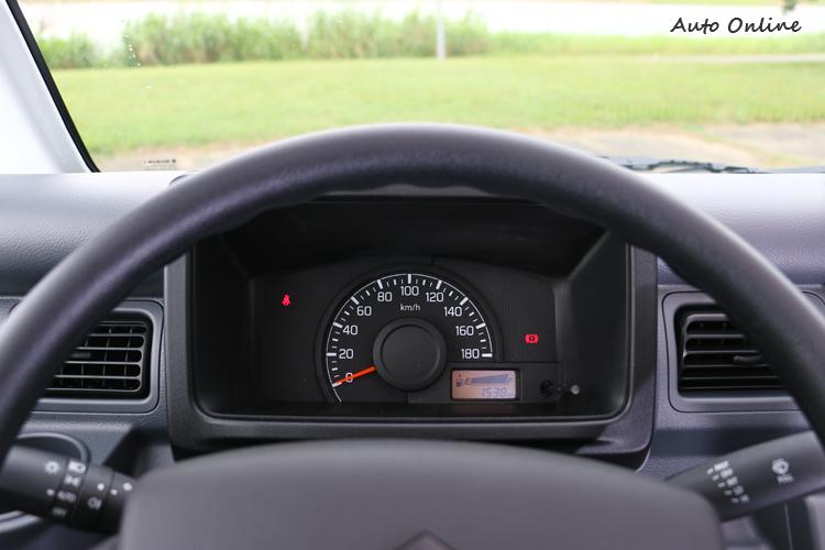 儀錶板只有大大的速度表,手排換檔時機只能用耳朵聽跟經驗了。