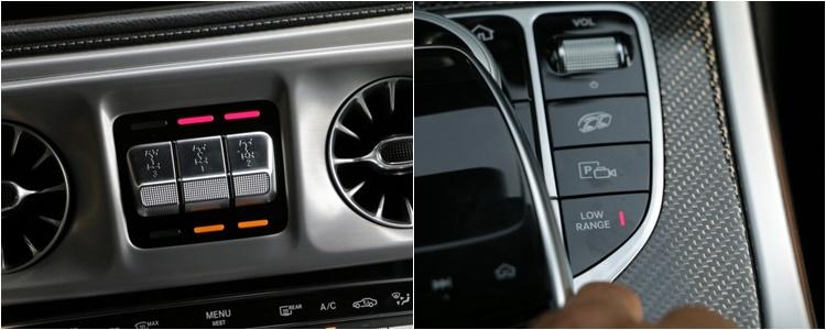 G-Class除具備三軸差速鎖定功能,還有專門對付越野Low Range的齒比放大模式。