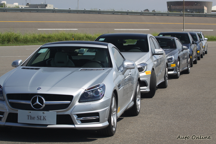 台灣賓士準備了各型車款作為訓練用車,全都是未經改裝的原廠車。