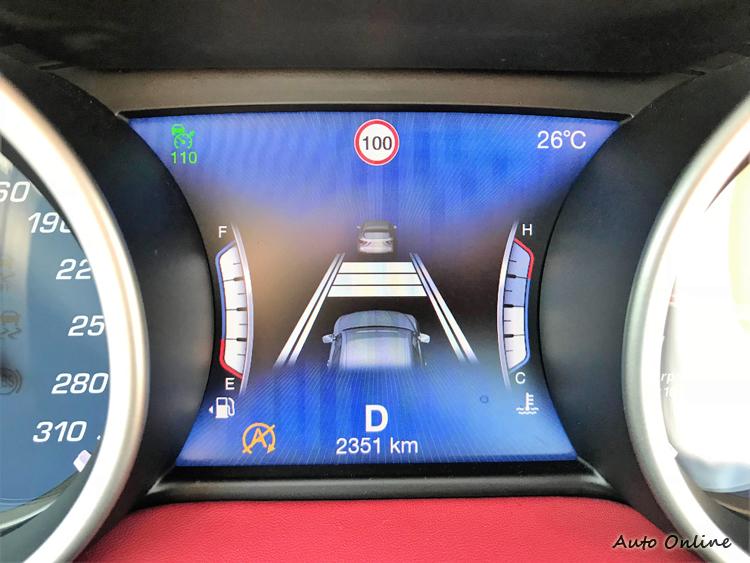 選配先進駕駛輔助系統包含了自動跟車系統。