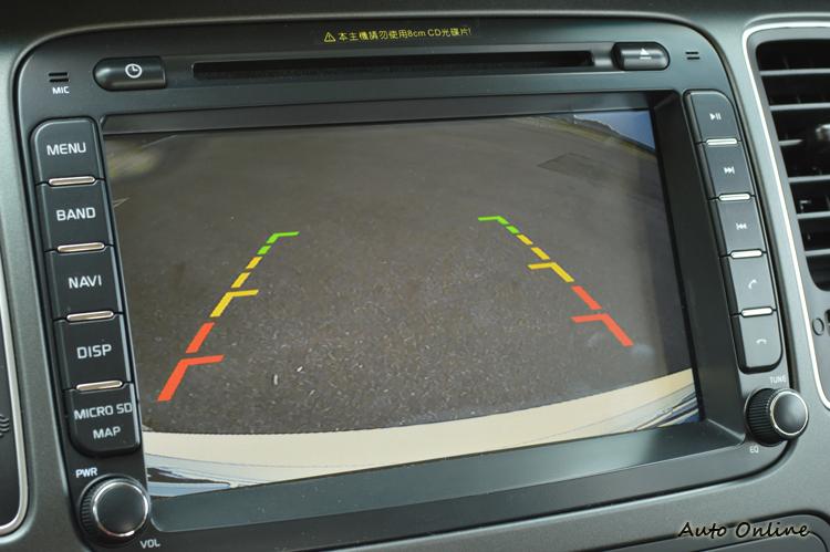 除了17項主被動安全系統的車系標配,更納入CCD倒車顯影功能。