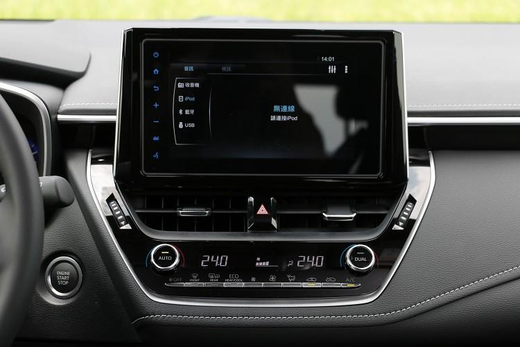螢幕為8吋Wi-Fi Toyota Drive+ Connect智聯車載系統。