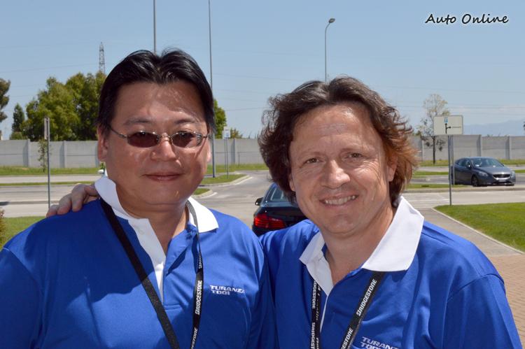 負責EUPG測試的這位Stefano Modena可是1987~1992的義大利籍F-1車手,在義大利享譽盛名,有天才車手的稱號。