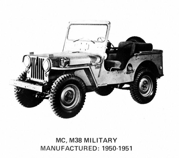 取代Willys MB的MC車型配置2.2升引擎,最大馬力60hp。