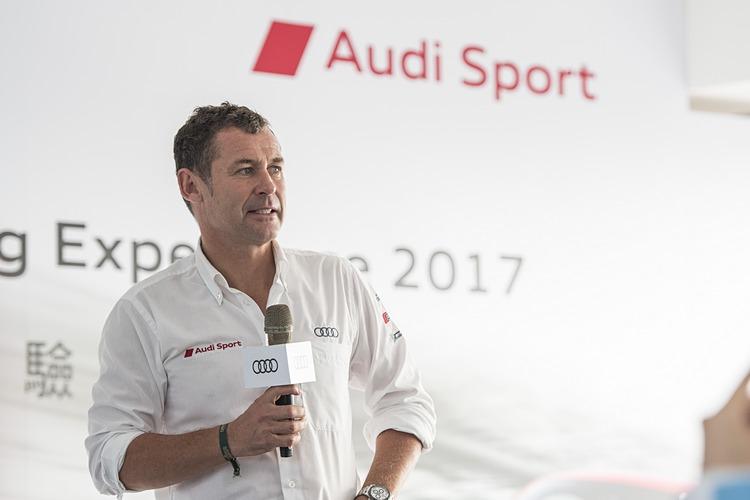 曾經奪下九次利曼耐久賽冠軍的Tom Kristensen出現在Audi極限體驗營,同時也分享他的賽車經驗。
