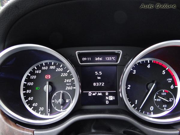 雙環儀錶清晰簡潔,中央的顯示幕提供各種所需資訊,一目了然,和上一代好像沒啥不同。