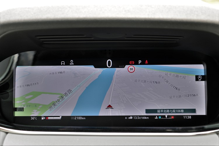 12.3吋的儀表板有多種模式可變化,如果怕迷路能把導航切換至最大。