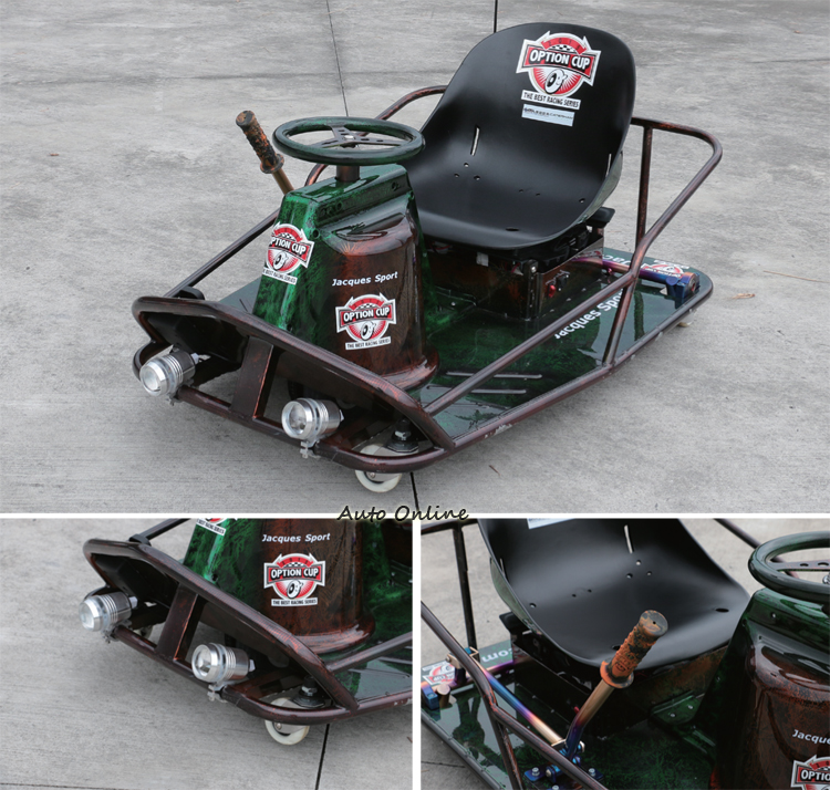 Crazy Cart不僅可以自由的甩尾,同時也能依造自己的個性重新改裝自己的甩尾車。