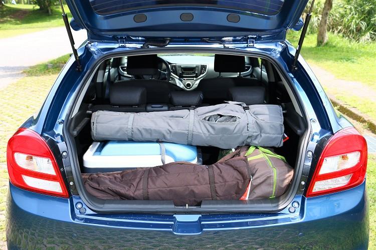 Baleno擁有同級距車款中最佳的355L超大後廂空間。