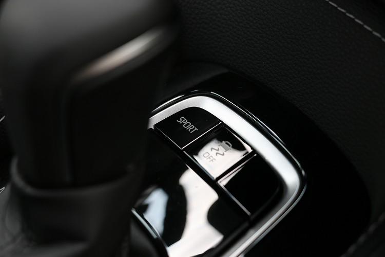 行車模式的控制按鍵在排檔桿前方。
