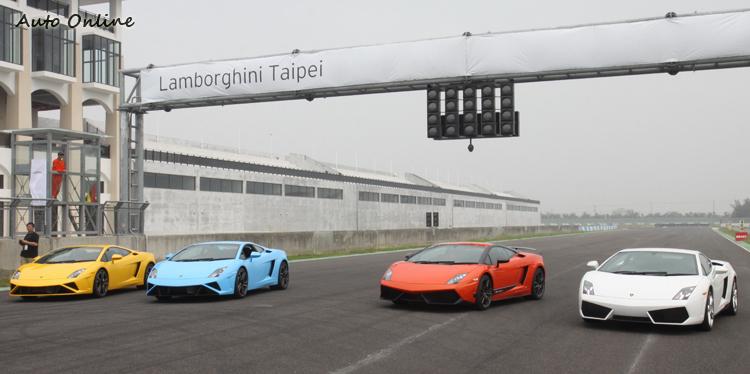 這次上場車型包教練車在內共既小改款前、後的LP 560-4與首次在台亮相的LP 570-4 Superleggera Edizione Tecnica。