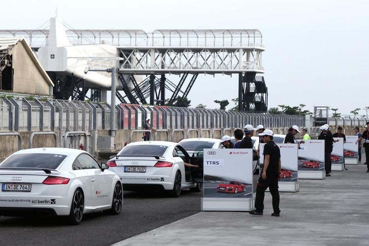 尚未在台灣上市的TT RS,這次原廠特別從歐洲空運一批來台,讓大家搶先在ADE活動中試駕體驗它的實力。