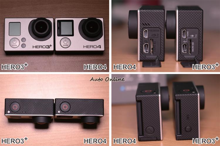 HERO 4的外觀除了有幾個小細節的改變之外,其餘的部分大致上與HERO 3+ 相同。