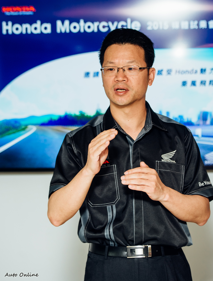 台灣本田二輪部副部長胡秋斌花了很長時間研究重機市場,終於決定讓本田翅膀再度回到台灣。