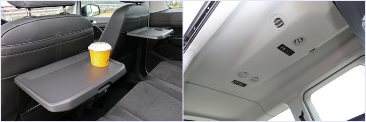 全車每位乘員都有專屬的空調出風口,第二排椅背還有折疊餐盤、兩組小口袋和地圖袋的設計。